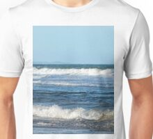 Waves and distant headlands in Queensland Unisex T-Shirt