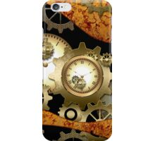 Steampunk, clocks and gears  iPhone Case/Skin