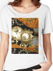Steampunk, clocks and gears  Women's Relaxed Fit T-Shirt