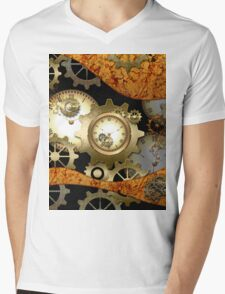 Steampunk, clocks and gears  Mens V-Neck T-Shirt