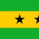 Sao Tome and Principe Flag Stickers by Mark Podger