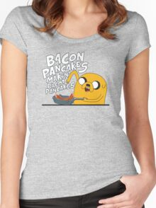 Bacon pancakes Women's Fitted Scoop T-Shirt