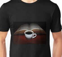 Short Black  and a Book Unisex T-Shirt