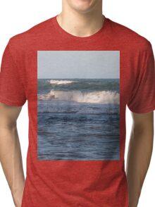 Splashing ocean waves in Queensland Tri-blend T-Shirt