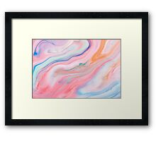 Marble Pink and Blue Swirl Framed Print
