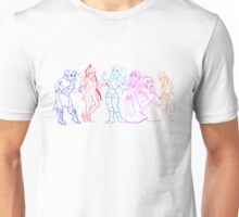 Game Girls Outlines Unisex T-Shirt