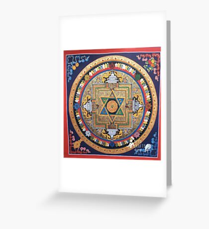 tibetan stargate Greeting Card