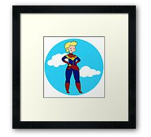 Captain Marvel Framed Print