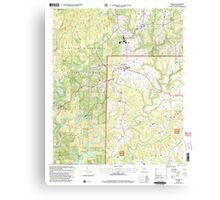 USGS TOPO Map Alabama AL Addison 303075 2000 24000 Canvas Print