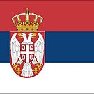 Serbia National Flag Stickers by Mark Podger