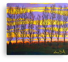 Poplar Sunset Canvas Print