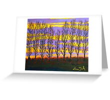 Poplar Sunset Greeting Card