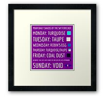Daily Forecast - with colour! Framed Print