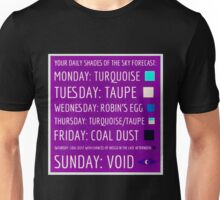 Daily Forecast - with colour! Unisex T-Shirt