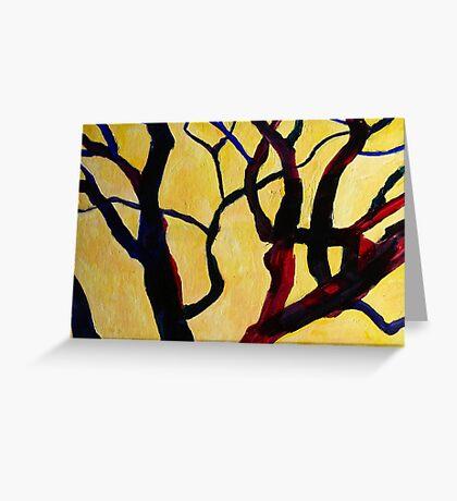 Yellow Tree 1 Greeting Card
