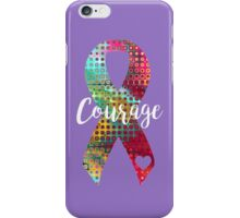 Courage Abstract Ribbon iPhone Case/Skin