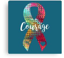 Courage Abstract Ribbon Canvas Print