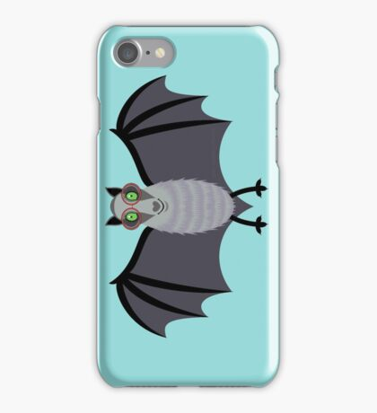 BAT WITH IMPROVED VISION iPhone Case/Skin
