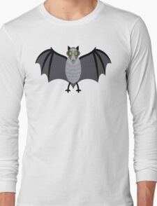 BAT WITH IMPROVED VISION Long Sleeve T-Shirt
