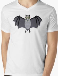 BAT WITH IMPROVED VISION Mens V-Neck T-Shirt
