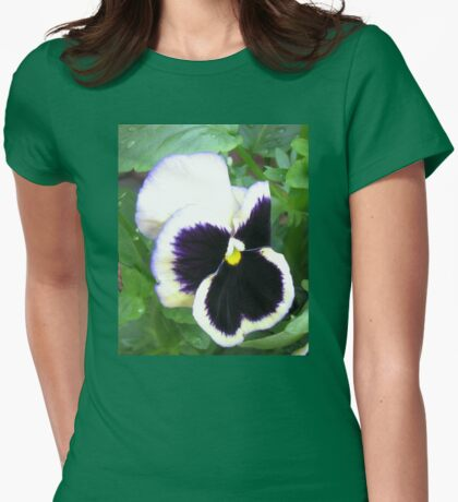 Pansy with Attitude Womens Fitted T-Shirt