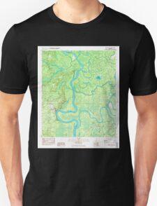 USGS TOPO Map Alabama AL Bilbo Island 654274 1983 24000 T-Shirt