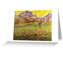 'A Meadow in the Mountains Le Mas de Saint Paul' by Vincent Van Gogh (Reproduction) Greeting Card