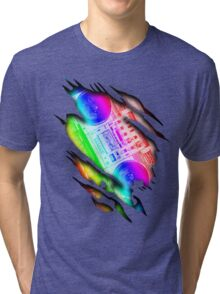Colorful Retro Boombox Within Design Tri-blend T-Shirt