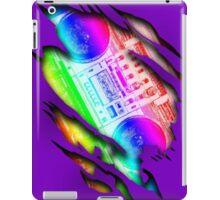 Colorful Retro Boombox Within Design iPad Case/Skin