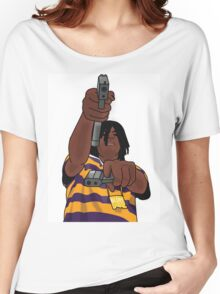 Chief Keef Toting Gun Women's Relaxed Fit T-Shirt