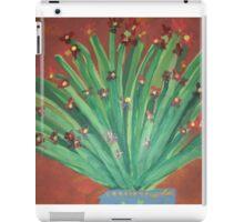 Red Flowers in Blue Vase iPad Case/Skin