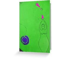 Green Goddess Rising Greeting Card