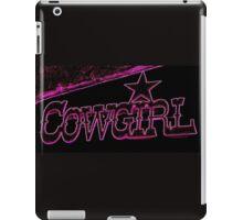pink cowgirl sign  iPad Case/Skin