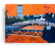 Liffey Bridges, Dublin Canvas Print
