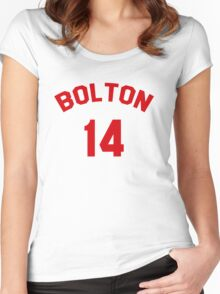 High School Musical: Bolton Jersey Red Women's Fitted Scoop T-Shirt
