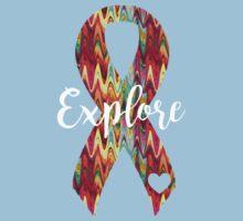 Explore Abstract Ribbon Kids Tee