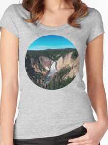 Yellowstone x Lower Falls Women's Fitted Scoop T-Shirt
