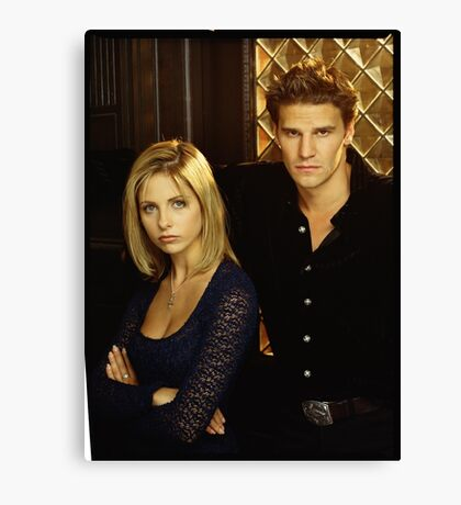 buffy and angel Canvas Print