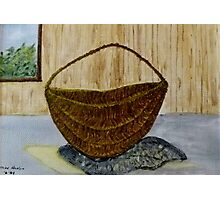 Willow Basket  Photographic Print