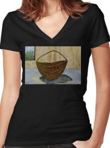 Willow Basket  Women's Fitted V-Neck T-Shirt