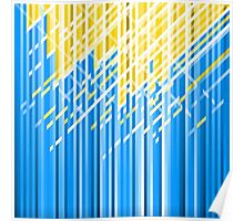 Yellow and Blue Dynamic Lines Poster