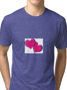 overlapping red hearts Tri-blend T-Shirt