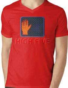 Crossing Signal Mens V-Neck T-Shirt