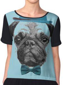 Mops Puppy French Bulldog Chiffon Top