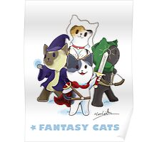 Fantasy Cats Poster