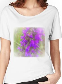 Shadow Clan Enhanced Purple Flowers Women's Relaxed Fit T-Shirt