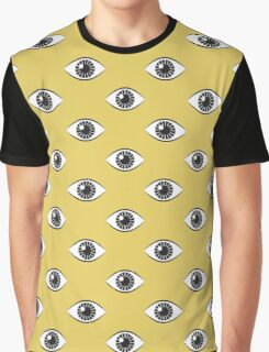 Eyes Wide Open - Mustard Yellow Graphic T-Shirt