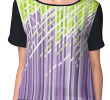 Violet and Green Dynamic Lines Chiffon Top