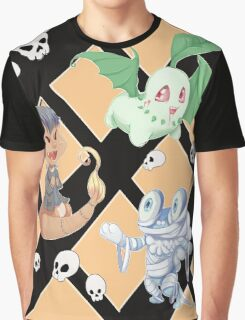 Spooky Pokemon halloween pattern  Graphic T-Shirt