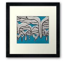 Blue Drippps Framed Print